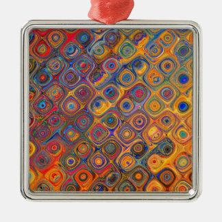Oil Rainbow Metal Ornament