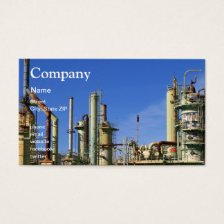 Oil Refinery Business Card
