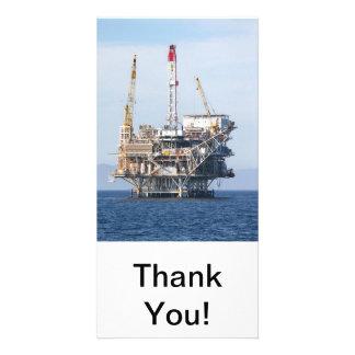 Oil Rig Customised Photo Card
