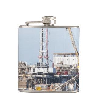 Oil Rig Hip Flask