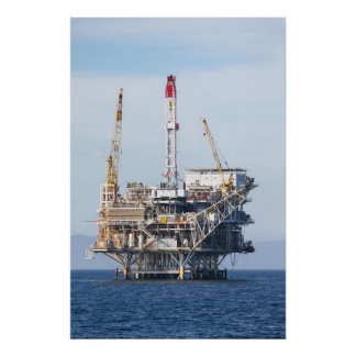 Oil Rig Poster