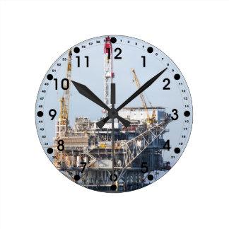 Oil Rig Round Clock