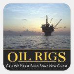 Oil Rig Sticker, Oil & Gas Hard Hat Sticker