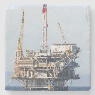 Oil Rig Stone Coaster