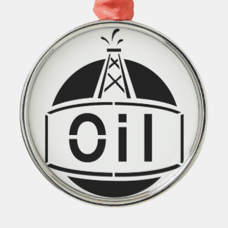 Oil Rig Worker Metal Ornament