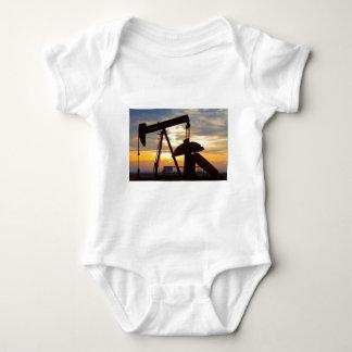 Oil Well Pump Jack Sunrise Baby Bodysuit