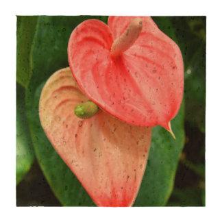 Oilcloth Flower Cork Coasters