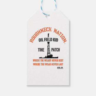 OILFIELD KID Orange Gift Tags