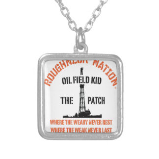 OILFIELD KID Orange Silver Plated Necklace