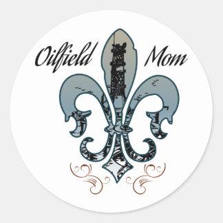 oilfield mom classic round sticker