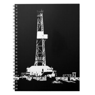 Oilfield Oil Drilling Rig Silhouette Notebooks