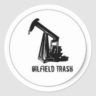 Oilfield Trash hard hat sticker