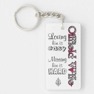 OILFIELD WIFE- Loving is Easy Key Ring