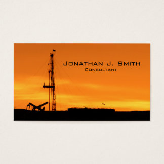 Oilfield Workover Service Rig Sunset Business Card
