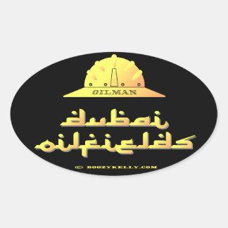 Oilman,Dubai Oil Fields,UAE,Oil,Gas,Rigs,Gift Oval Sticker