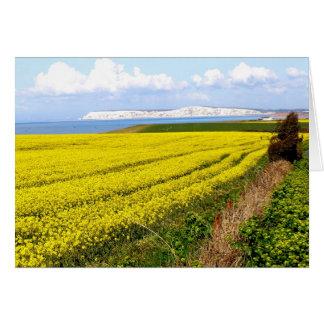 Oilseed rape field in the Isle of Wight Greeting Card