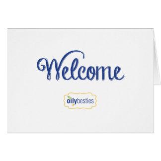 Oily Besties Welcome Card