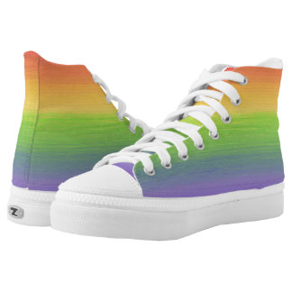 Oily Rainbow High Tops