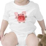 """OINK!!!"" Cute Cartoon Pig Baby Apparel Bodysuits"