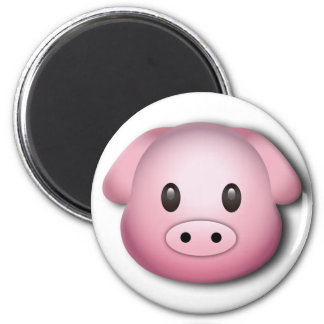 Oink Oink Cute Pig 6 Cm Round Magnet