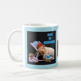 OIT is boring: 2 different dogs Coffee Mug