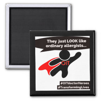 OIT superhero doctors Square Magnet
