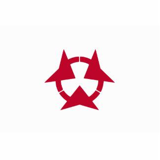 Oita Prefecture, Japan flag Standing Photo Sculpture
