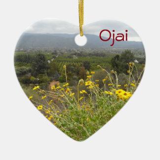Ojai, California Ceramic Ornament