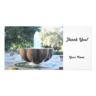 Ojai Fountain Custom Photo Card