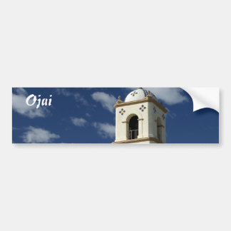 Ojai Post Office Tower Car Bumper Sticker