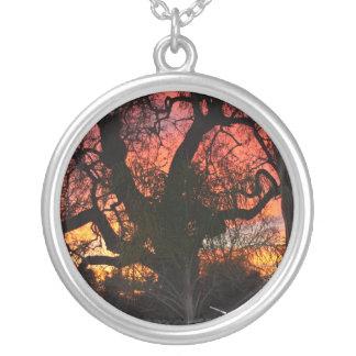 Ojai Sunset Round Pendant Necklace