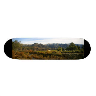Ojai Valley With Snow 1 Skateboard Deck