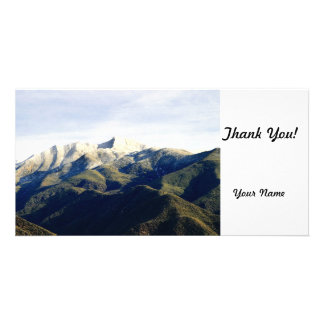 Ojai Valley With Snow Photo Card Template