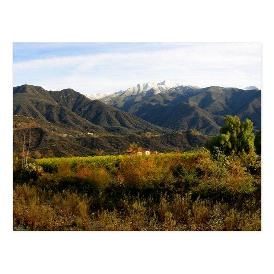 Ojai Valley With Snow Postcard