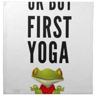 Ok But First Yoga Napkin
