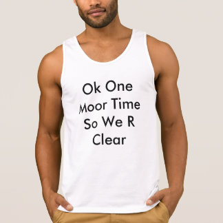 Ok One Moor Time So We R Clear Singlet