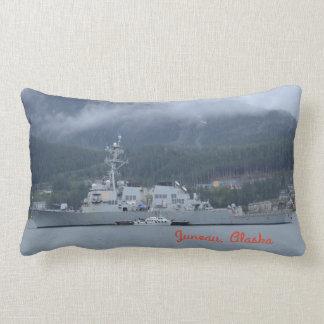 O'Kane Destroyer docked in Juneau, Alaska Lumbar Cushion