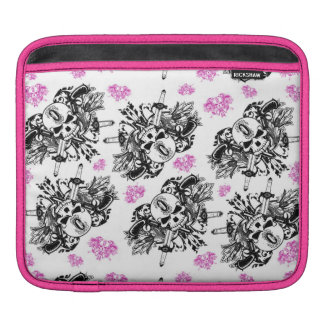 O'Kane Logo iPad Case (Black & Pink) iPad Sleeves