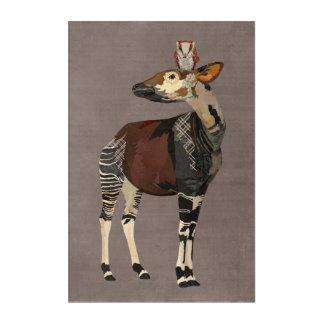 OKAPI & AMBER  OWL ACRYLIC WALL ART