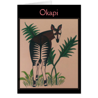 Okapi Illustration Card
