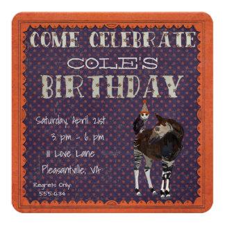 OKAPI & OWL POLKADOT  Birthday Invitation