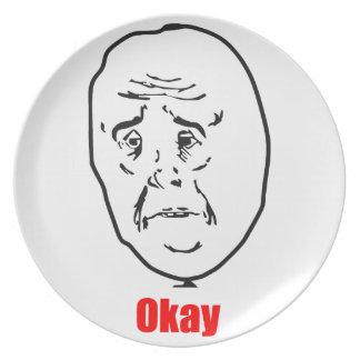 Okay - Meme Plate