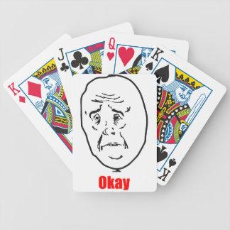 Okay - Meme Bicycle Playing Cards
