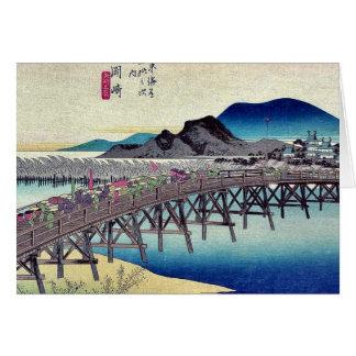 Okazaki by Ando, Hiroshige Ukiyoe Greeting Cards