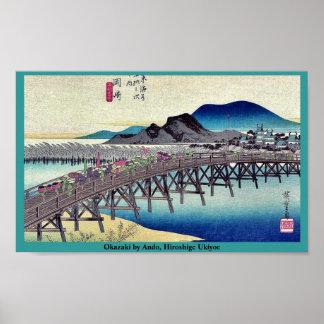 Okazaki by Ando, Hiroshige Ukiyoe Poster