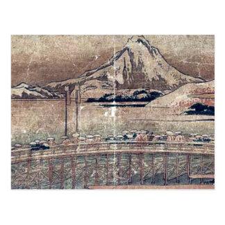 Okazaki  by Katsushika, Hokusai Ukiyoe Postcard