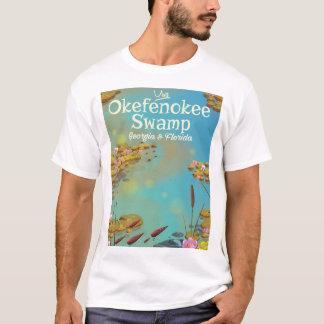 Okefenokee Swamp cartoon travel poster T-Shirt
