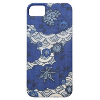 Okinawa kimono pattern in blue iPhone 5 covers