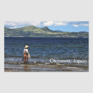 Okinawan Fisherman Rectangular Sticker