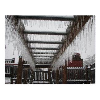 Oklahoma  2010 ice storm! postcard